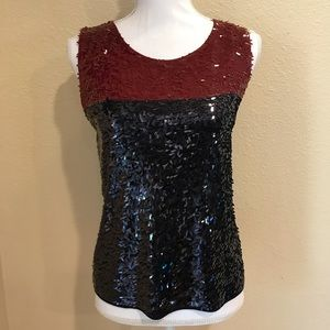 J. Crew Collection Color Block Sequin Tank Top